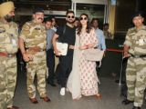 Anushka - Virat leave from Delhi for Mumbai