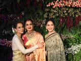 Kangana - Madhuri - Rekha at Virushka's Reception