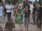 Taimur accompanies mom Kareena Kapoor on her sets