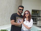 Arjun and Parineeti spotted during the promotion of Namaste England in Delhi