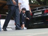 Taimur and Inaaya snapped at a playschool