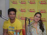 Sushant Singh Rajput and Sara Ali Khan promoting Kedarnath at Mirchi studio