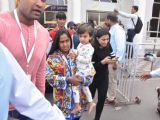 Arpita khan and Ahil at Jodhpur airport