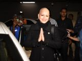 Sonali Bendre back after treatment at Mumbai Airport