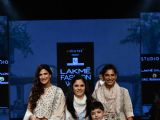 Bollywood divas walk the ramp for fashion designers at 'Lakme Fashion Week'