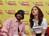 Ranveer - Alia snapped during Promotions of Gully Boy at a 98.3 Radio Mirchi