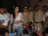 Shilpa Shetty at a press conference to clarify her stand on the Richard Gere kiss controversy