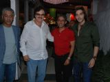 Zayed Khan, his father Sanjay Khan and the Prince of Abu Dhabi Sheikh Rashid at Olive Flea market