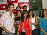 Shahid Kapoor at BIG 92.7 FM office for promoting his film ''Kaminey'', in New Delhi