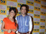 Tusshar Kapoor and Genelia D''Souza promote their upcoming movie ''Life Partner'' at Inox, in Mumbai