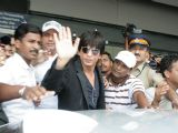 Shah Rukh Khan at Mumbai airport after he returned from the US