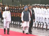 Prime Minister Manmohan Singh at the Red Fort, on the occasion of 63rd Independence Day in New Delhi