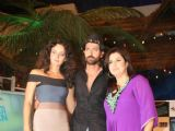 "Hrithik Roshan and Kangana Ranaut on the Sets of Farah Khan''s Chat Show ""Tere Mere Beach Mein"" at Filmcity"