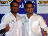 Tata Indicom Brand Ambassador Irfan and Yusuf Pathan showcases Photon - Mobile broadband services in Kolkata