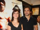 "Naheed Cyrusi and Sohail Khan at the promotion of ""Kissan Film"" at Gitanjali store"