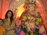 Monica Bedi at Andheri Ka Raja Ganpati