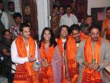 Ajay Devgn,Sanjay Dutt,Bipasha Basu,Mugdha Godse and Fardeen Khan at Siddhivinayak Temple