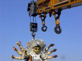 A traditional ritual during Durga Puja