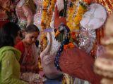 Jaya Bachchan attends last day of Durga Pooja