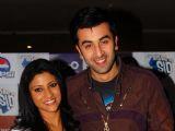 "Konkona Sen & Ranbir Kapoor during the press conference of film ""Wake Up Sid"" at PVR Ambience Mall Gurgaon"