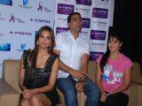 Lara Dutta, Akshay Kumar and Katrina Kaif on promotional event of their film ''Blue'' in Mumbai