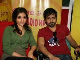 Soha Ali Khan and Emraan Hashmi promote ''Tum Mile'' on Radio Mirchi in Mumbai