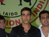 Akshay Kumar addresses during 1st Invitational Open National Karate Championship at Andheri Sports Complex, Mumbai