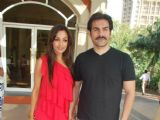 Arbaaz Khan with his wife Malaika Arora Khan pose for the photographers during the announcement of Louis Cruises India''s itineraries, preferred sales agents, voyage information and launch dates for operation in India using Kochi