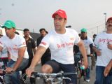 Salman at Cyclothon at Bandra