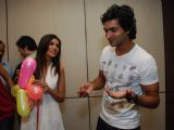 "Purabh Kohli celebrates his birthday with the star cast of ""Hide N Seek"" at Moserbaor office, Andheri"