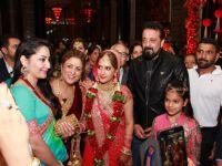 Sanjay Dutt and Manyata Dutt snapped at Shefali's Wedding Reception!