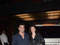 Bollywood celebrities Spotted at Arpita's House in Bandra