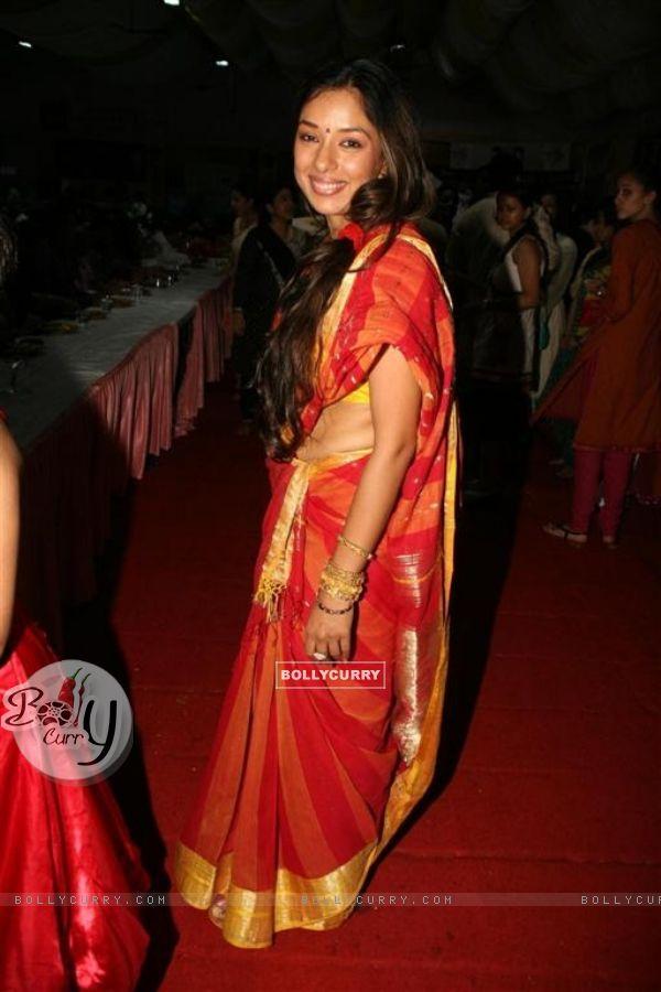 "Rupali Ganguly celebrated ""Sarbojanin Durga Puja"""