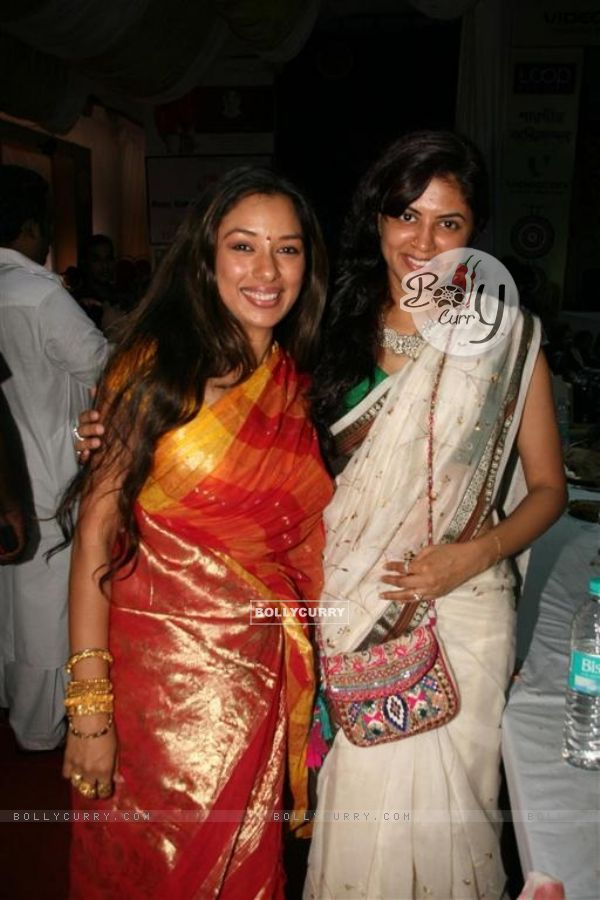 "Rupali Ganguly and Kavita Kaushik celebrated ""Sarbojanin Durga Puja"""