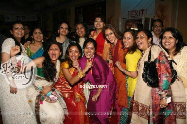 "Vaibhavi, Rupali and Kavita celebrated ""Sarbojanin Durga Puja"""