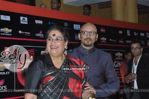 Usha Uthup at Global Indian Music Awards on Wednesday night at Yash Raj Studios