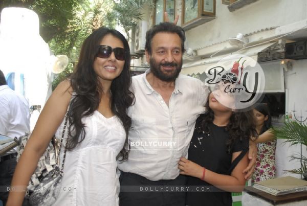 Shekhar Kapoor and Suchitra Krishnamurthy at 10th anniversary bash of Olive in Bandra