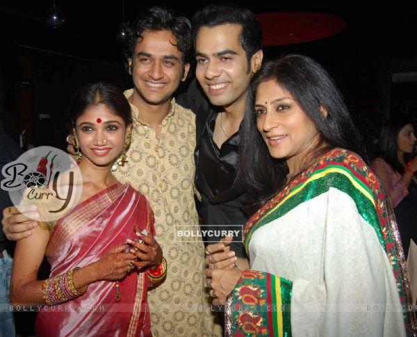 Ratan Rajput and Rupali Ganguly at Wedding celebration party of Sachal Tyagi & Jaya Binju