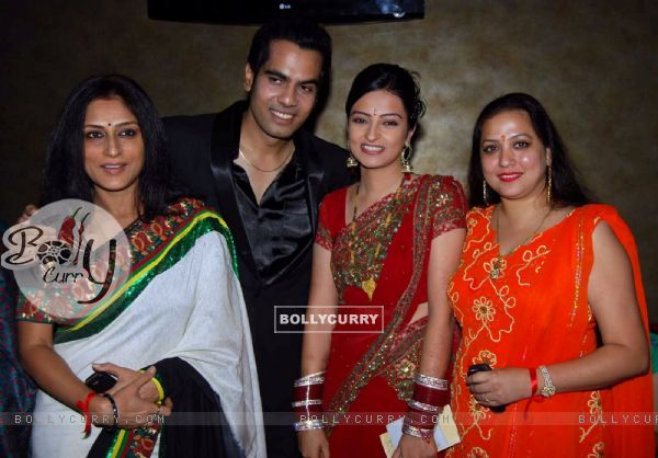 Rupali Ganguly and Surbhi Tiwari at Wedding celebration party of Sachal Tyagi & Jaya Binju