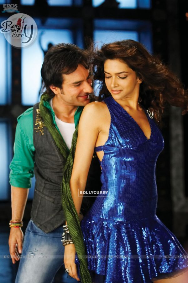 Saif Ali Khan and Deepika in a dancing pose