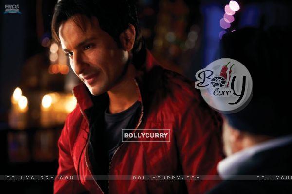 Saif Ali Khan in Red Jacket