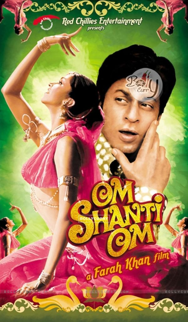 Om Shanti Om poster with Shahrukh and Deepika (11397)