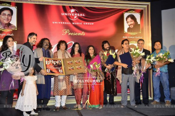 Zakir Hussain launches Harzat album at JW Marriott. .