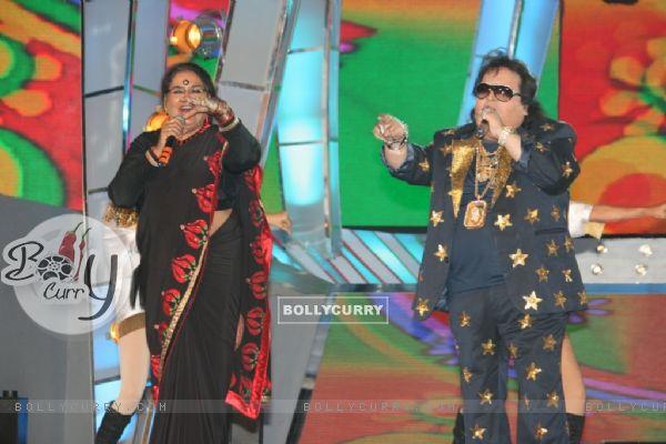 Bappi Lahiri and Usha Uthup at Mirchi Music Awards 2011 at BKC