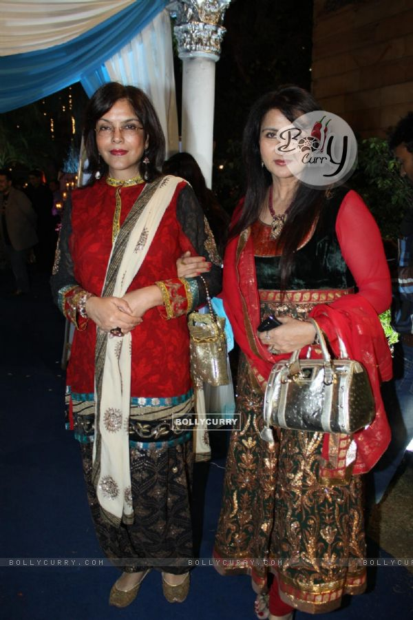 Poonam Dhillon and Zeenat Aman at Banpreet Singh's Son Wedding