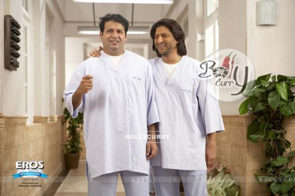 A still image of Suresh and Arshad
