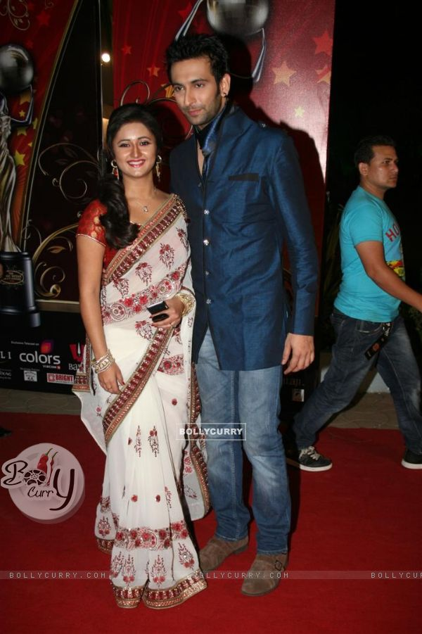 Nandish and Rashmi at Global Indian film and Television awards at Yash Raj studios in Mumbai