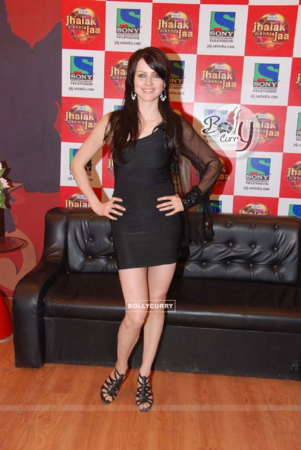 Yana Gupta on the sets of Jhalak Dikhla Jaa