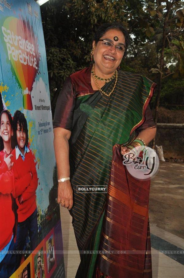Usha Uthup at music launch of film''Satrangee Parachute'' in ST Catherine's children home (122178)