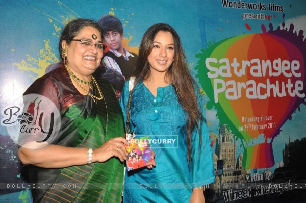 Usha Uthup and Rupali Ganguly at music launch of film''Satrangee Parachute'' in ST Catherine's